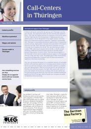 Call-Centers in Thüringen - Landesentwicklungsgesellschaft ...