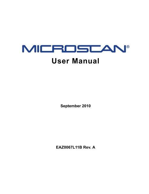 MICROSCAN User Manual - Snap-on