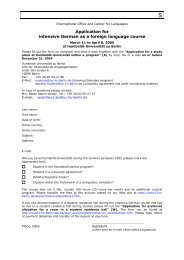 Application for intensive German as a foreign language ... - HU Berlin