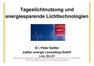 Tageslichtnutzung u. energiesparende ... - Klimarettung