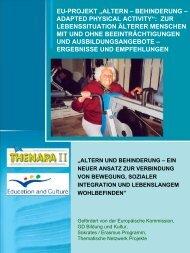 Altern - Behinderung - Userpage - Freie Universität Berlin