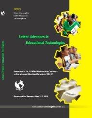 LATEST ADVANCES in EDUCATIONAL ... - Wseas.us