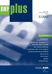BWPplus 5/2003 - BiBB