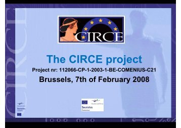 The CIRCE project (Veerle De Troyer) - EACEA - Europa