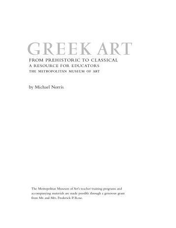 Greek Art from Prehistoric to Classical - Metropolitan Museum of Art