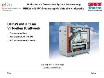 BHKW mit iPC im virtuellen Kraftwerk