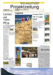 Projektzeitung Lappland - Digitale Bildung Neu Denken