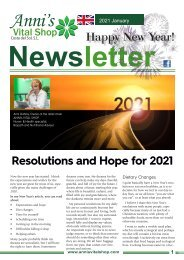 Resolutions and Hope for 2021
