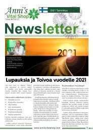 Lupauksia ja Toivoa vuodelle 2021