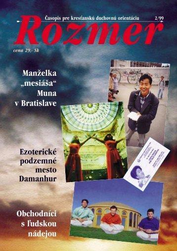 míľniky dvoch tisícročí - ROZMER | časopis pre kresťanskú ...