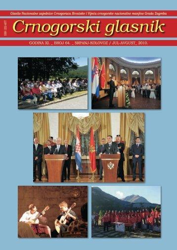 preuzmite glasnik u pdf formatu - Vijeće crnogorske nacionalne ...