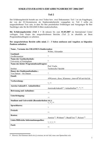 Erfahrungsbericht Auslandssemester in Nottingham - Technische ...