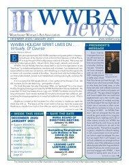WWBA December 2020/January 2021 Newsletter