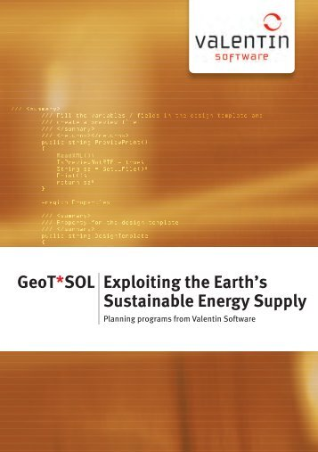 GeoT*SOL Exploiting the Earth's Sustainable ... - Valentin Software
