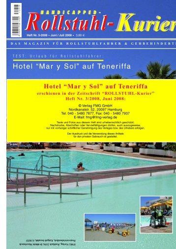 """Hotel """"Mar y Sol"""" auf Teneriffa erschienen in der ... - Escales-Verlag"""
