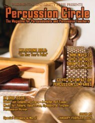 The Percussion Circle #2 - January-February 2021