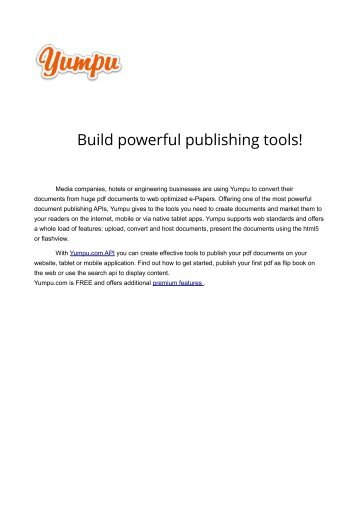 about yumpu sdk with page teaser