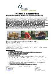 Maharani Spezialreise - Destinasia GmbH