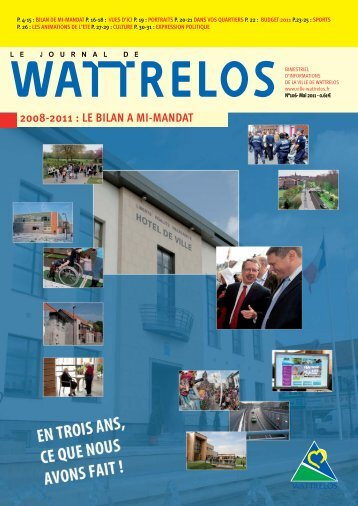2008-2011 : LE BILAN A MI-MANDAT - Ville de Wattrelos