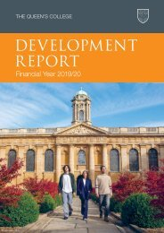The Queen's College Development Report 2019-20