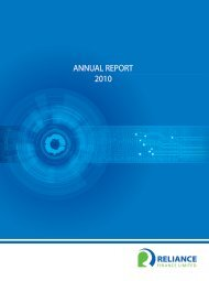 ANNUAL REPORT 2010 - Reliance Finance Limited
