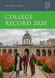 The Queen's College Record 2020
