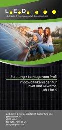 LED Flyer PV-Anlagen 2021