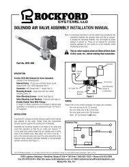 KSL-151   Solenoid Air Valve Installation Manual