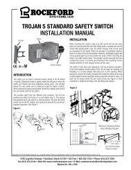KSL-159A | Trojan 5 Standard Safety Switch Installation Manual