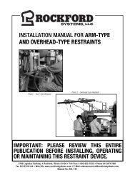 KSL-191 | Installation Manual for Arm-Type and Overhead-Type Restraints