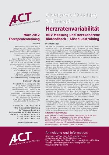 Herzratenvariabilität HRV Messung und Herzkohärenz Biofeedback