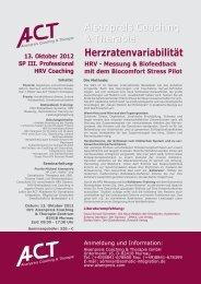 Herzratenvariabilität HRV - Messung & Biofeedback mit dem ...