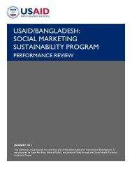 USAID/Bangladesh: Social Marketing Sustainability Program