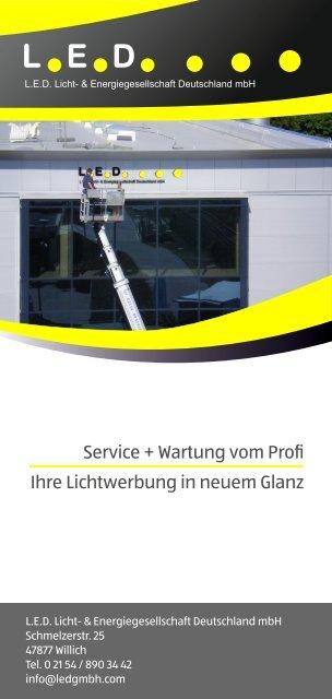 LED Service-Flyer 2021