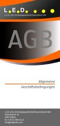 LED Flyer AGB 2021