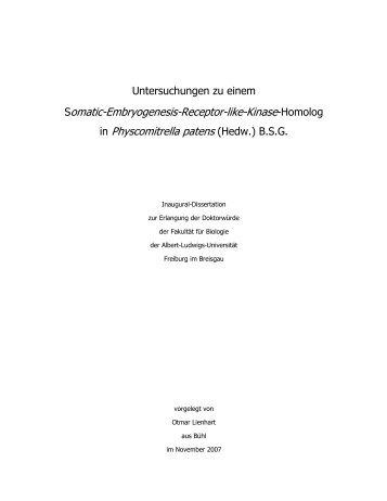 Somatic-Embryogenesis-Receptor-like-Kinase-Homolog in ...
