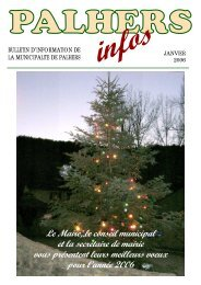Bulletin Municipal 2006.pdf - Mairie de Palhers