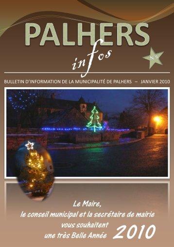 LE MOT DU MAIRE - Mairie de Palhers