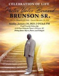 Pastor Victor Brunson Sr. Memorial Program