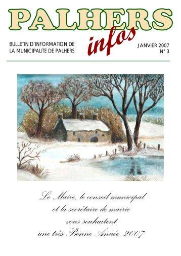 bulletin municipal 2007_inachevé - Mairie de Palhers