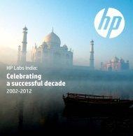 Celebrating a successful decade - HP Labs