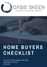 Home Buyers Checklist - Oasis Skeen Property Buyers