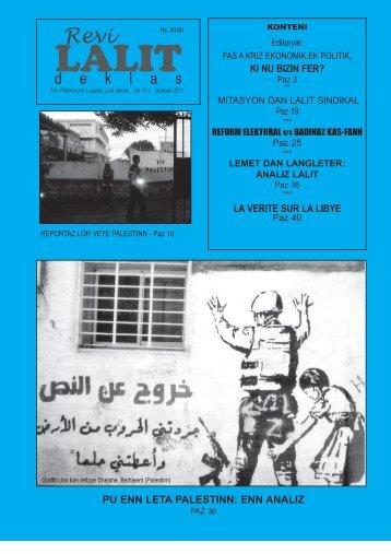 pu enn leta palestinn - Lalit Mauritius