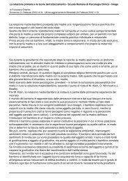 La relazione primaria e le teorie dell'attaccamento - Formazione in ...