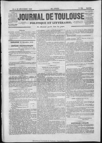 POLITIQUE ET LITTÉRAIRE. - Bibliothèque de Toulouse - Mairie de ...