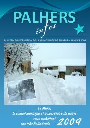 Bulletin Municipal 2009.pdf - Mairie de Palhers