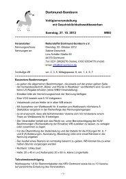 Dortmund-Somborn - Kreisreiterverband Dortmund eV