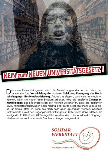 Nein zum neuen Universitätsgesetz!