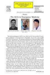 The ECG in Emergency Medicine - Karatunov.net