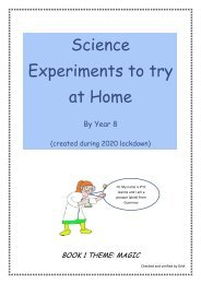 Science Experiments to try at Home
